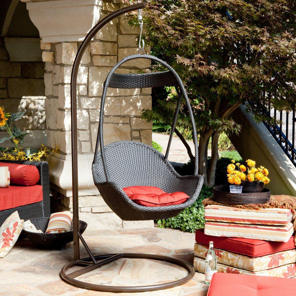 Haven all weather wicker swing chair wishlist pinterest wicker