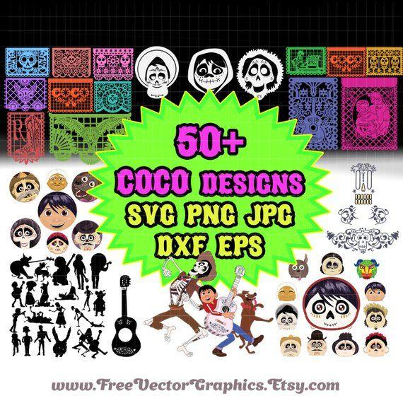 Printable Coco disney svg bundle, files Coco cricut design