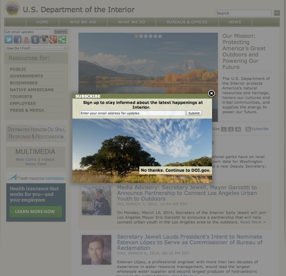 Department Of The Interior Uses A Light Window Overlay To Capture