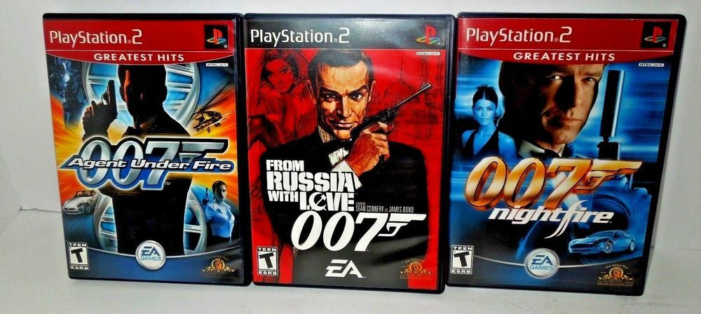 Ps2 James Bond 007 Lot Agent Under Fire From Russia With Love