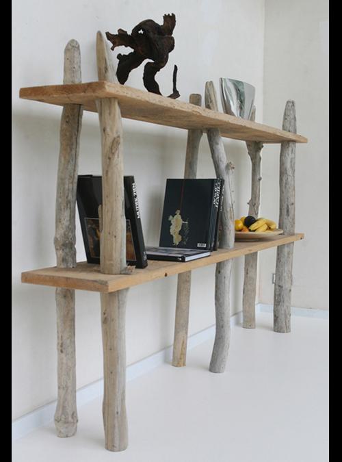 Libreria con tronchi di legno vintage | acquista online librerie ...