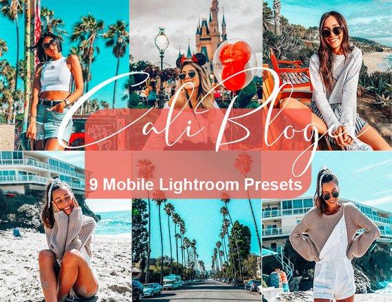 Mobile Lightroom Presets, California Blogger Preset Pack