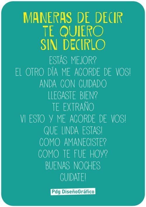 Poema Para Decir Te Quiero Sin Decirlo Maneras De Decir Te Quiero Sin Decirlo Decir Te Quiero Decir No
