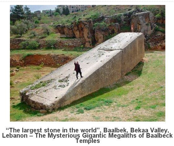 """Baalbek, Lebanon famous for its magnificent Roman temple ruins. It was a flourishing Phoenician town when the Greeks occupied it in 331 B.C. They renamed it """"Heliopolis"""" (City of the Sun).  It became a Roman colony. On its acropolis, over the next 3 centuries, the Romans constructed a monumental ensemble of 3 temples, 3 courtyards, & an enclosing wall built of the most gigantic stones ever crafted by man. Some believe that the construction can only be attributed to extra-terrestrial…"""