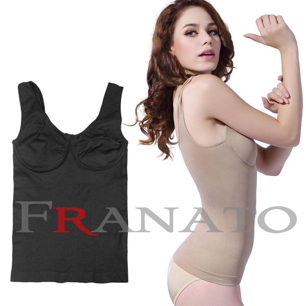 6d36e6e26e0 Women S Body Shaper Underwired Bra Shapewear Tank Tops Slimming Camisole  Spandex