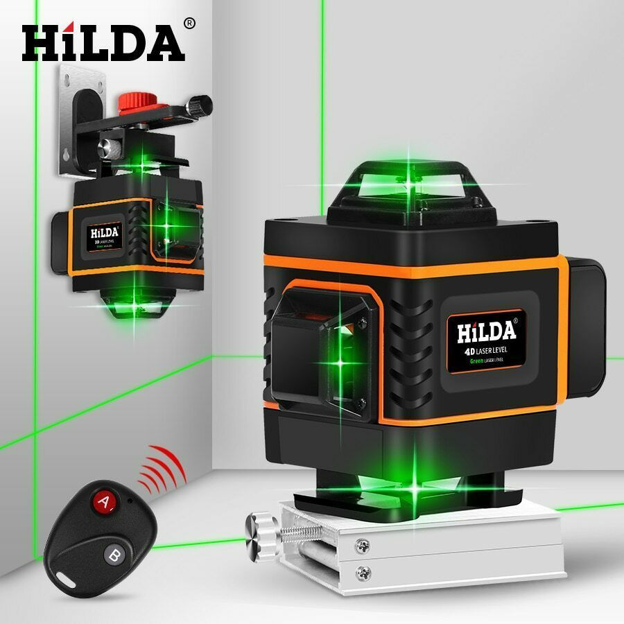 Hilda 16 Lines 4d Laser Level Level Self Leveling 360 Horizontal And Vertical Hilda In 2020 Laser Levels Green Laser Laser