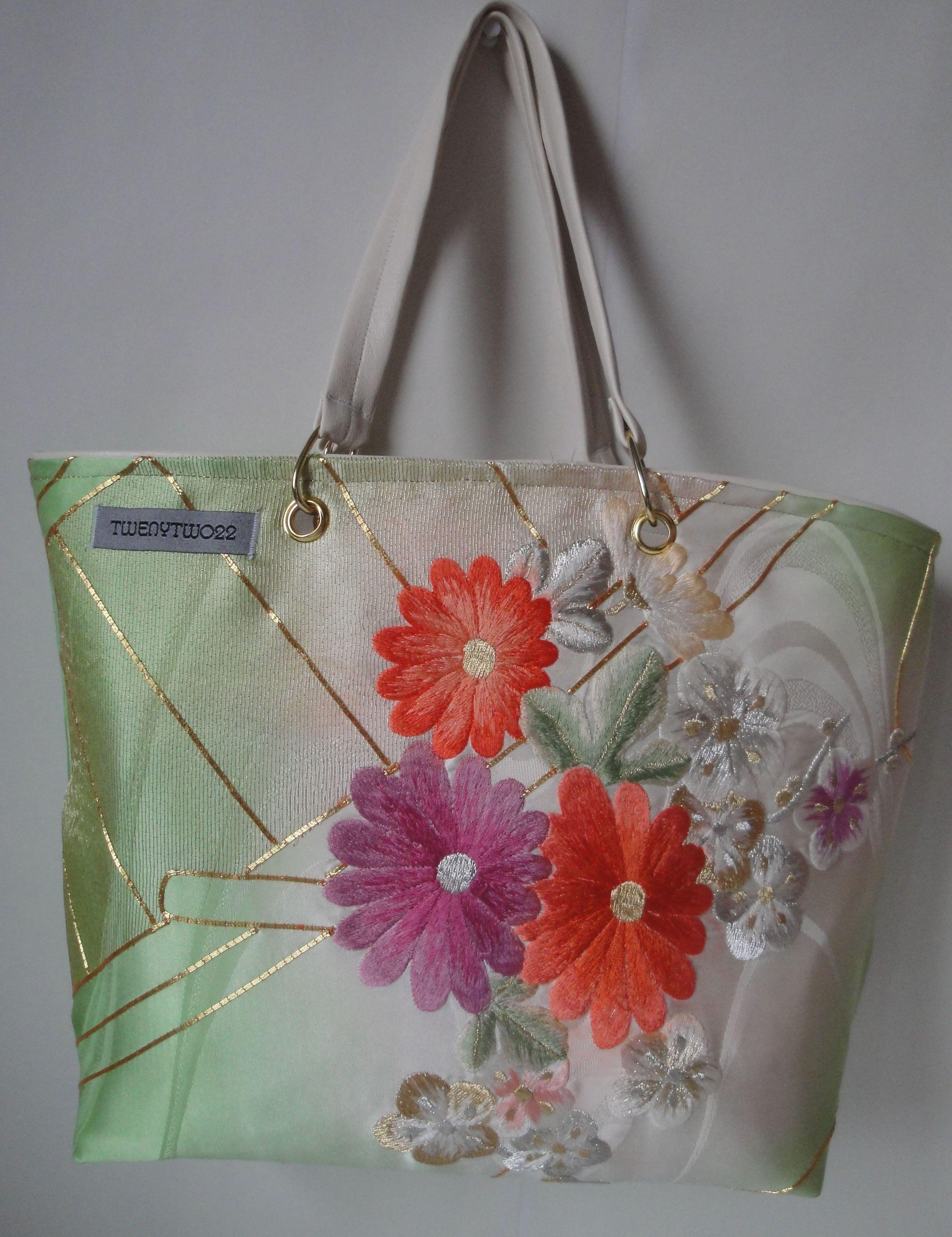 Original Japanese Kimono Silk Handbag, handmade