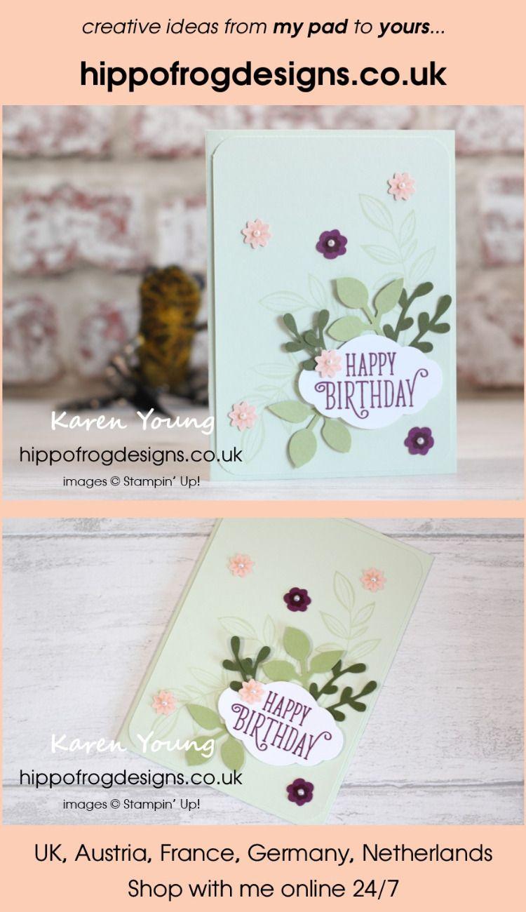 Last Week's Card & Cuppa - Spring Blooms | SU Leaf Punch
