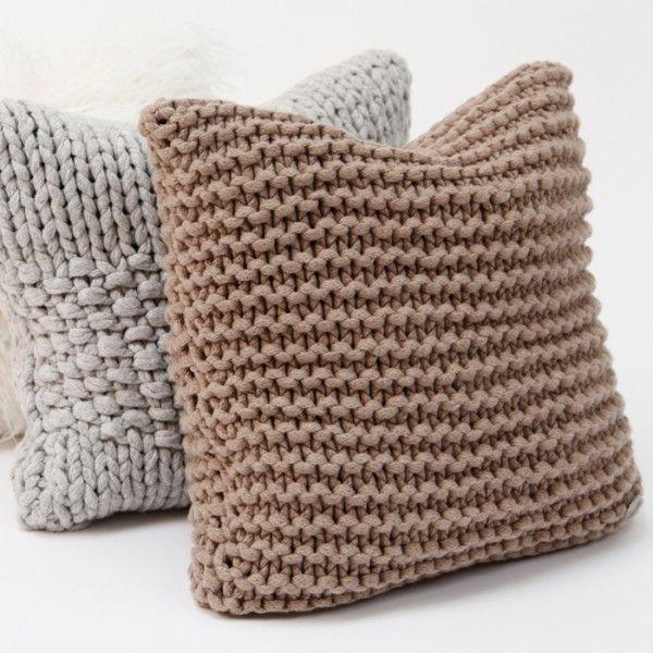 Тунисское вязание крючком подушки