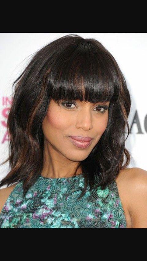 Tissage Ondule Avec Frange Modele De Coiffure Pinterest Hair