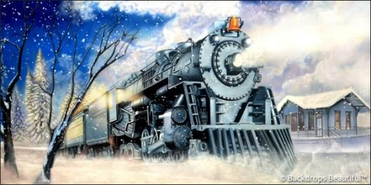 Polar Express, Anyone? This Winter Train background is the