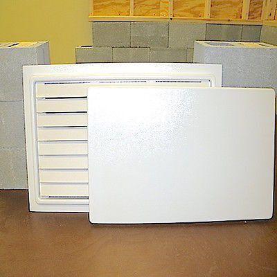Crawl Space Door With Louvers 16 X 32 White Crawl Space Door Crawlspace Doors