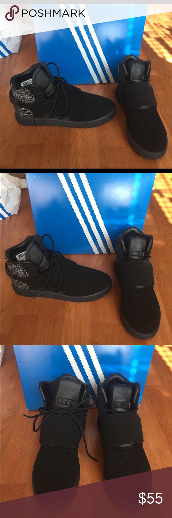 Nuevo adidas tubular invasor Correa Ray negro zapatilla High Top adidas
