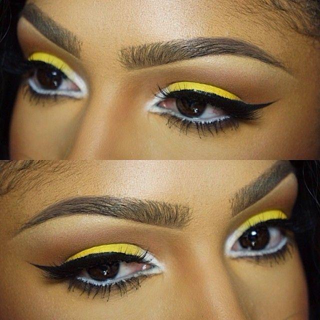 Eyeshadow Makeup Inspiration Yellow White Bee Makeup Makeupshayla
