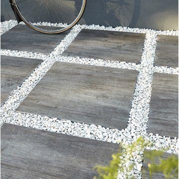 Dalle Siena grés en cérame pleine masse bois gris, L60 x l60 cm x - Dalle Pour Parking Exterieur