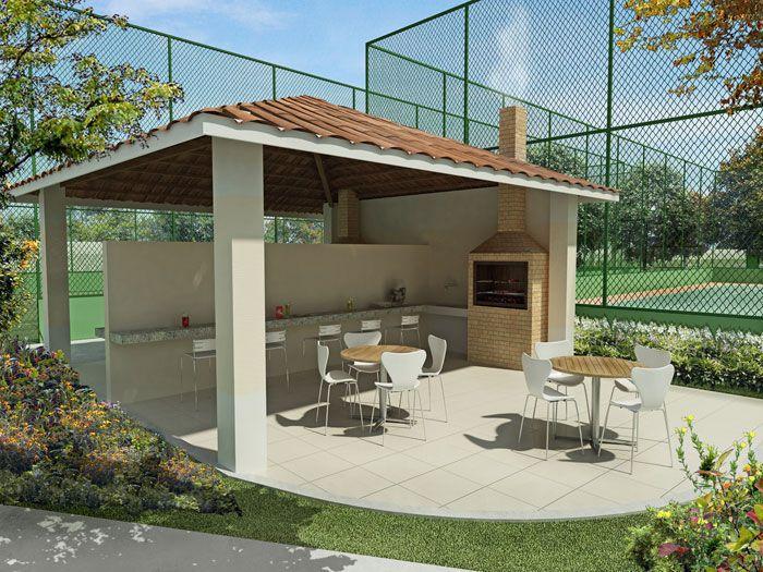 Projetos de quiosques com churrasqueiras gr tis sitio for Casa moderna jardin d el menzah