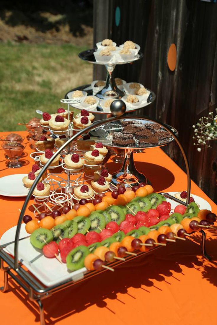 fall bridal shower menu ideas%0A Host a Backyard Bridal Shower