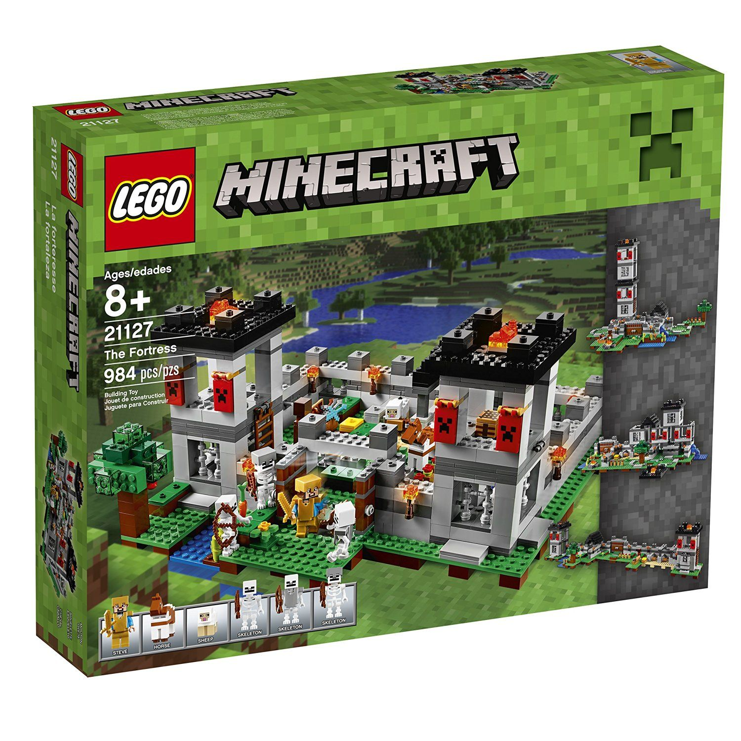 amazon com lego minecraft 21127 the fortress building kit 984