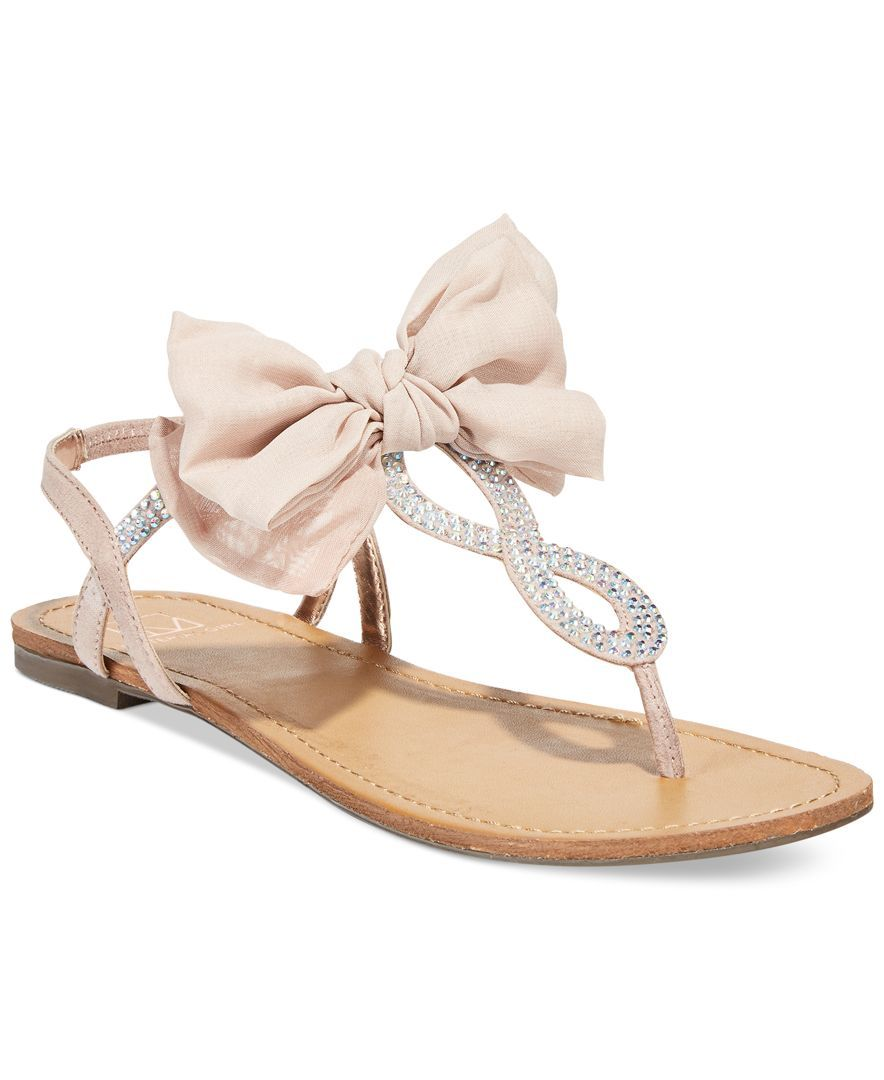 8472343dde Material Girl Sandra Flat Sandals, Only at Macy's - Juniors' Shoes ...