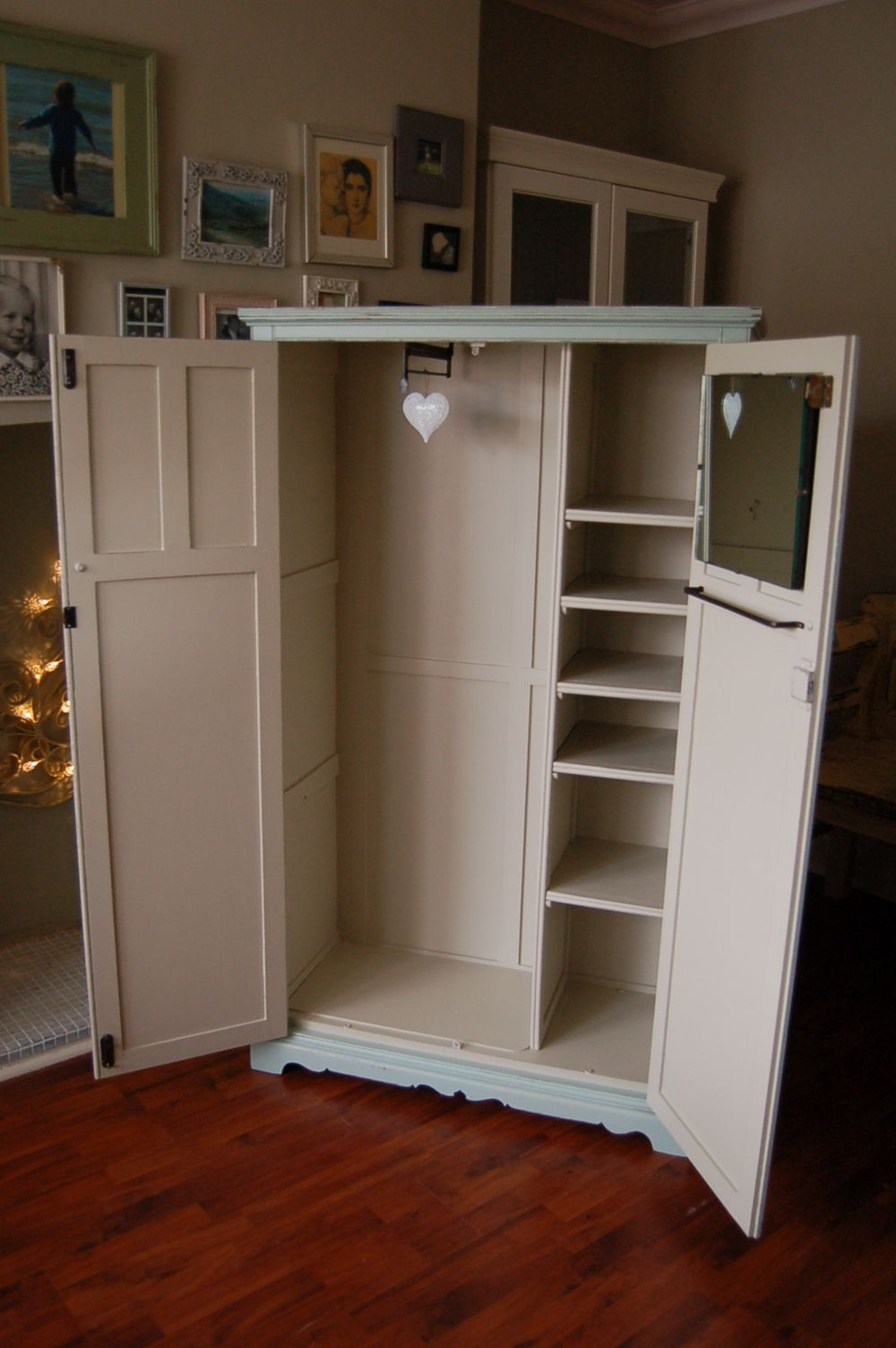 Room Vintage wardrobe Interior Hand painted and
