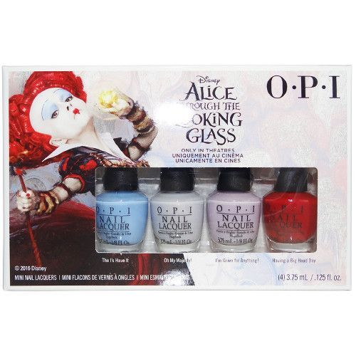 Opi Mini Alice Through The Looking Gl Collection 2016 Nail Lacquer Set Of 4