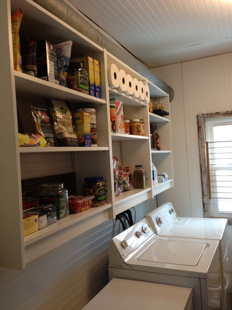 billy ikea bookcases as hanging open shelves kitchen wall pantry rh pinterest com