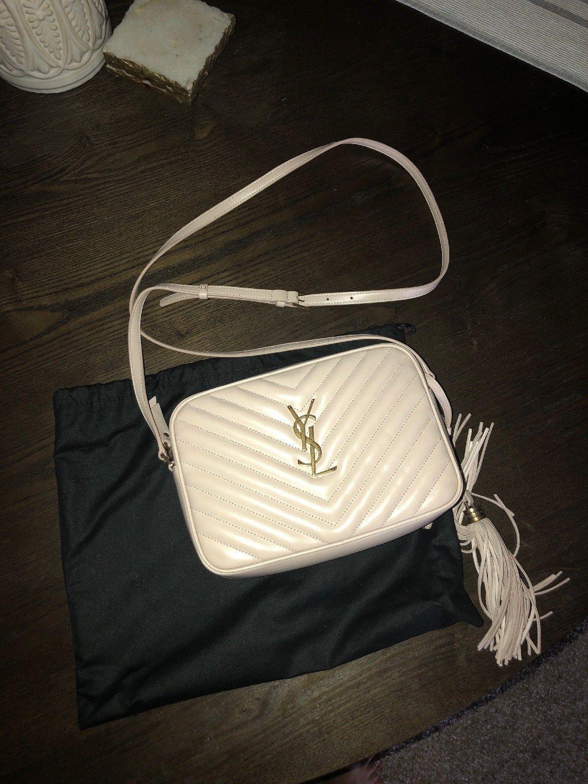 0143285498 BNWT Saint Laurent Lou Camera Bag Nude Pink Gold Ysl Authentic | Ubrania