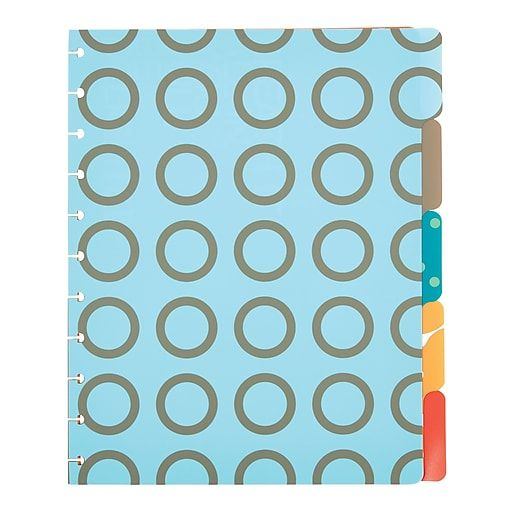 """Arc System Tab Dividers, Assorted Patterns, 9"""" X 11"""
