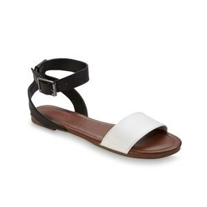 05cf30b2188d Women s Two Fun White Black Sandal - Kmart