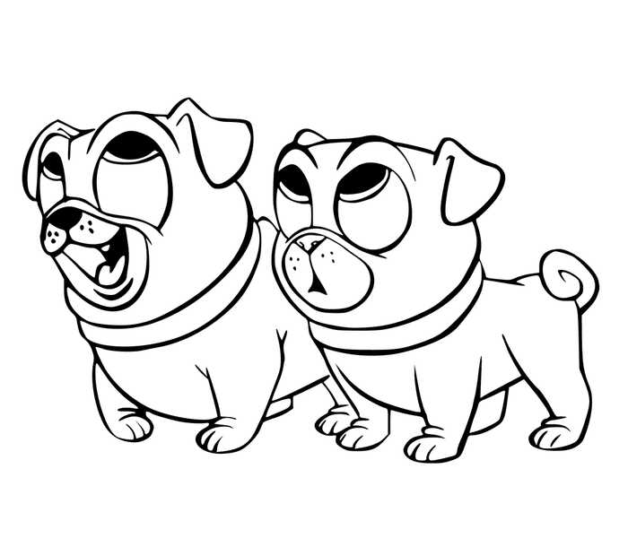 Puppy Dog Pals Coloring Pages Free To Print | Puppy ...