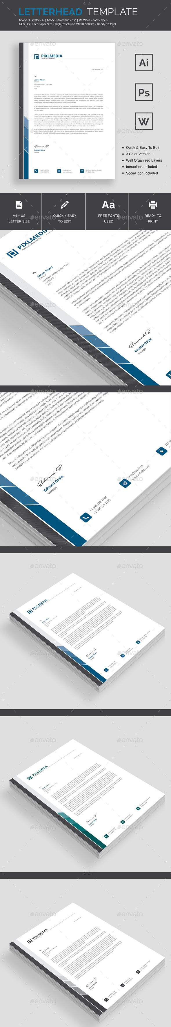 Business Letter Templates Free Download%0A Letterhead Template