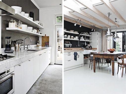 by bjørkheim - interior and inspiration: Kitchen with open shelves