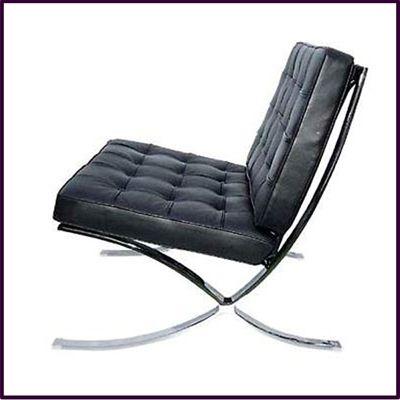 Black Leather Sofa Chair With Chrome Legs   My Style   Sofa chair ...