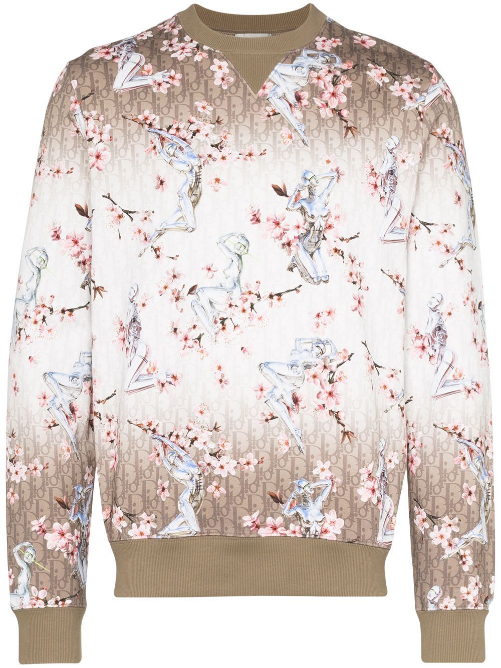 Dior Homme X Hajime Sorayama Robot Blossom Print Sweatshirt Neutrals Designer Sweatshirts Printed Sweatshirts Sweatshirts [ 1334 x 1000 Pixel ]