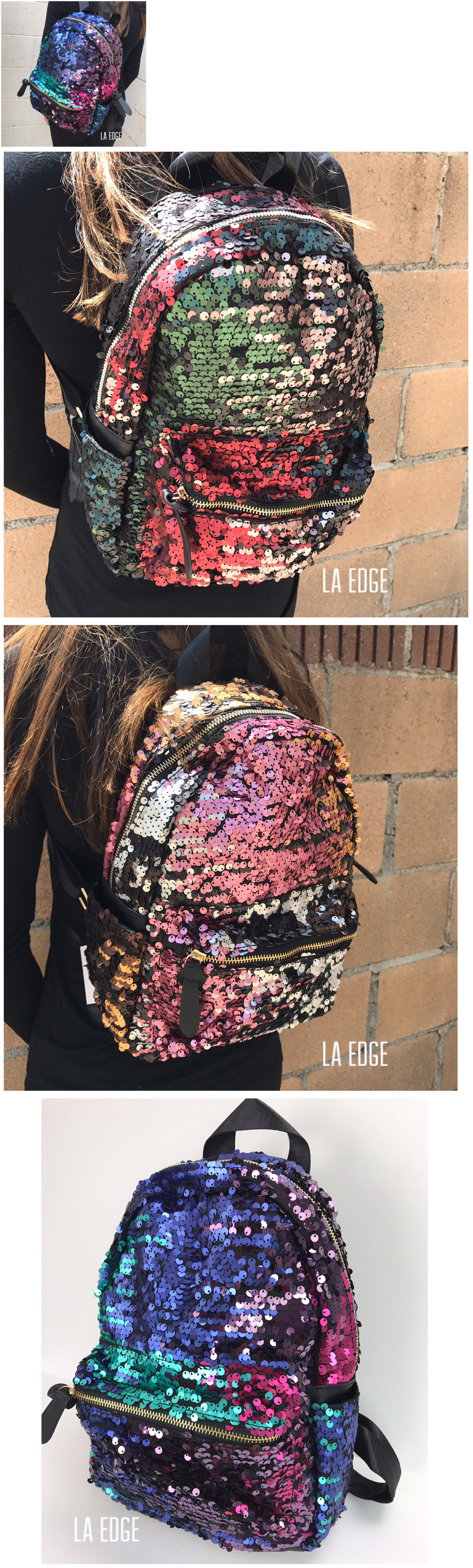 backpacks and bookbags sequin backpack daypack rainbow