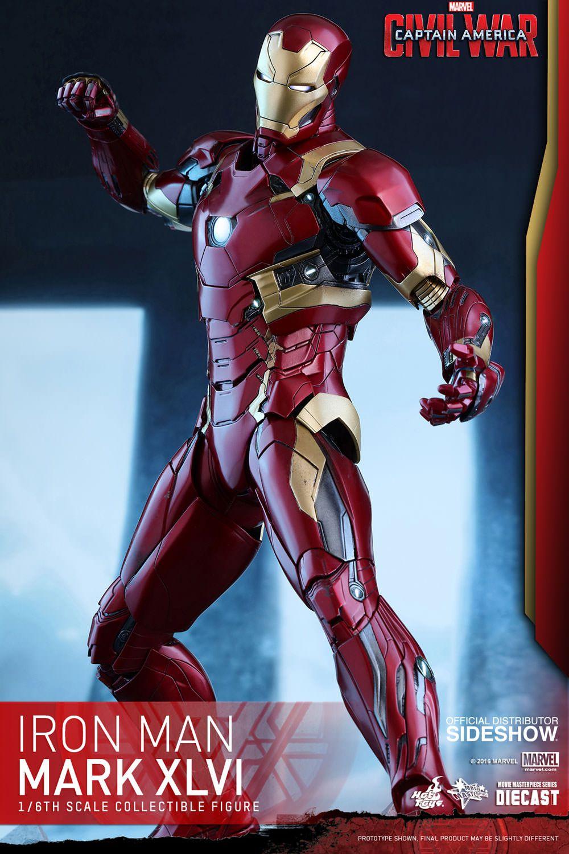Marvel Iron Man Mark XLVI Sixth Scale Figure by Hot Toys