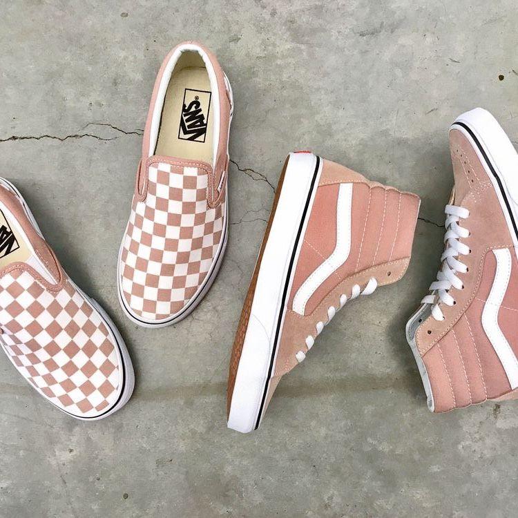 Pink vans, Trendy shoes, Cute sneakers