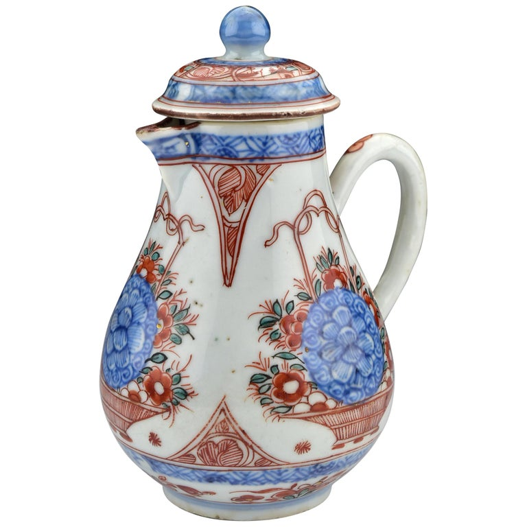 18th Century Chinese Export Porcelain Covered Cream Jug Vintage Porcelain Porcelain Porcelain Teapot