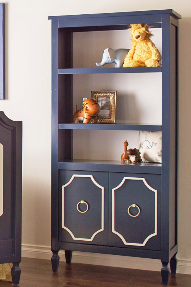 I Love This Navy Bookshelf Great Addition To A Baby Nursery Kids Bedroom Or Any Other Room Of The House