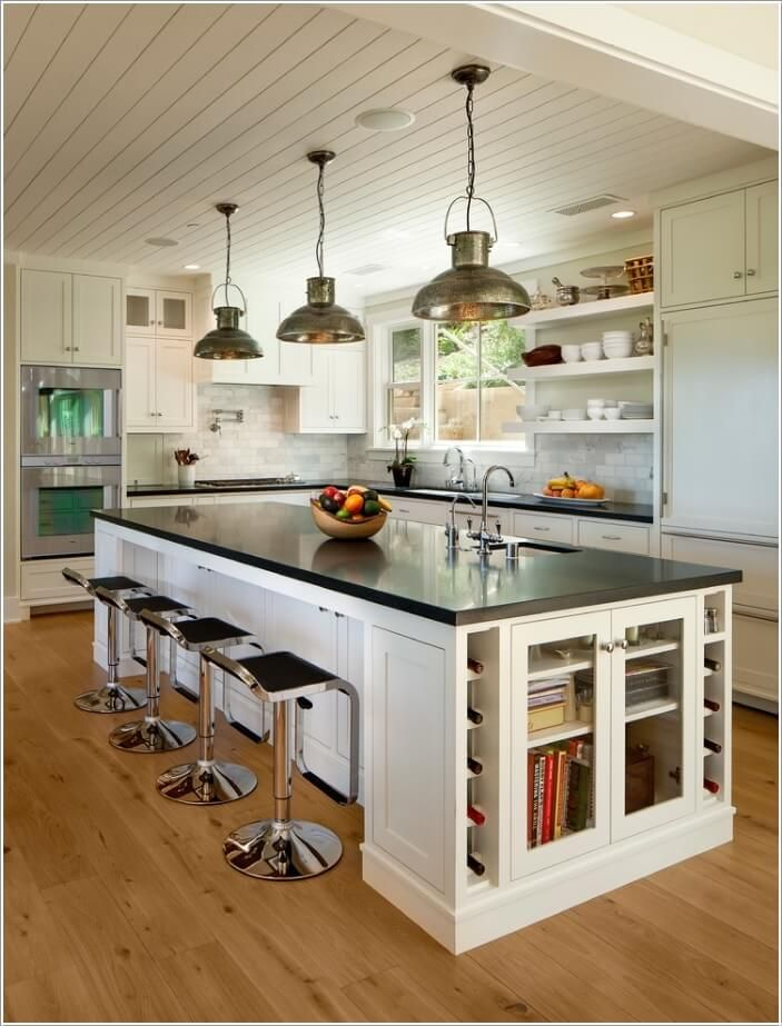 15 way to add an island style to your kitchen home decor cottage rh pinterest com