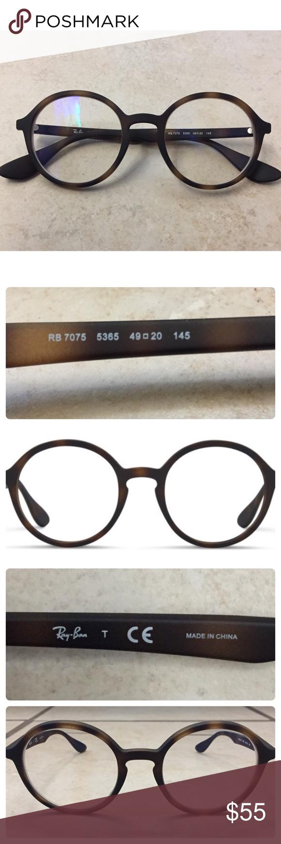 a449e422a70 Ray-Ban Authentic Trendy Circular 7075 Glasses Ray-Ban Authentic Trendy  Circular 7075 5365