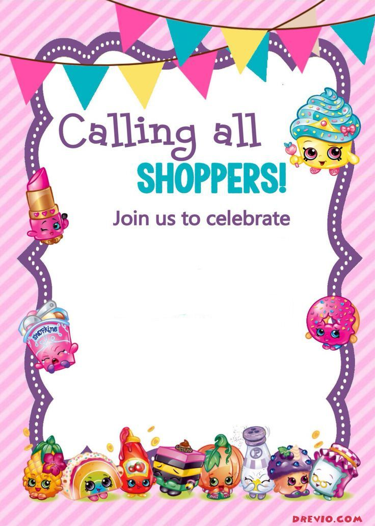 photo regarding Free Printable Shopkins Invitations named Up to date - Absolutely free Printable Shopkins Birthday Invitation