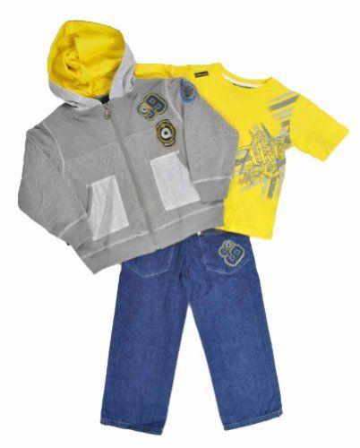 """Akademiks """"Yellow/Grey Scholar"""" Infant Boys 3-Piece ..."""