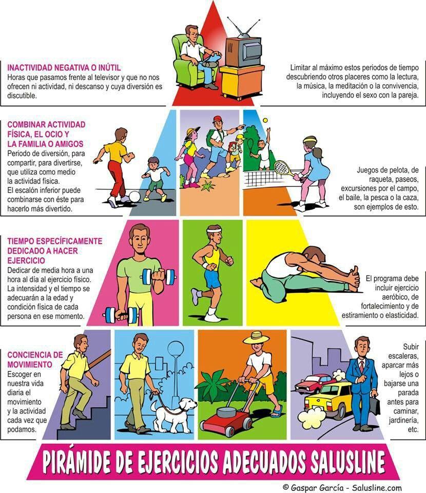 Pirámide De Ejercicios Ejercicios Actividades Físicas Actividades