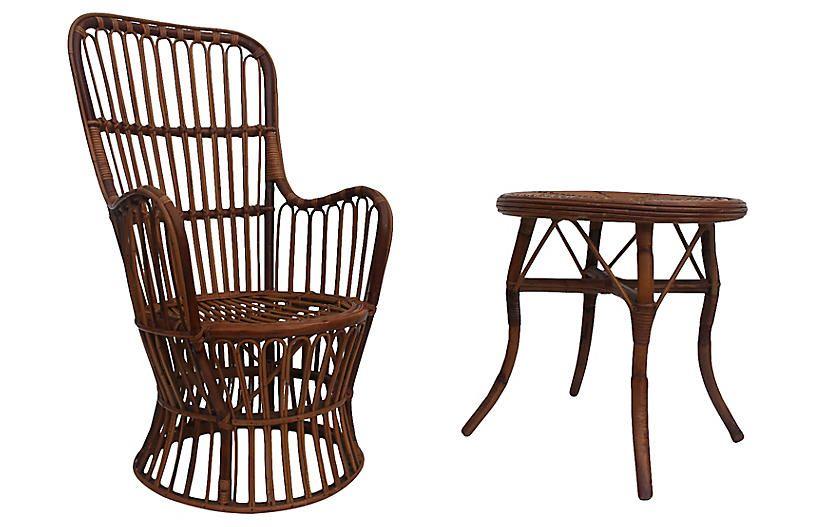 franco albini chair table set 2 pcs 559 00 wicker furniture rh pinterest ie