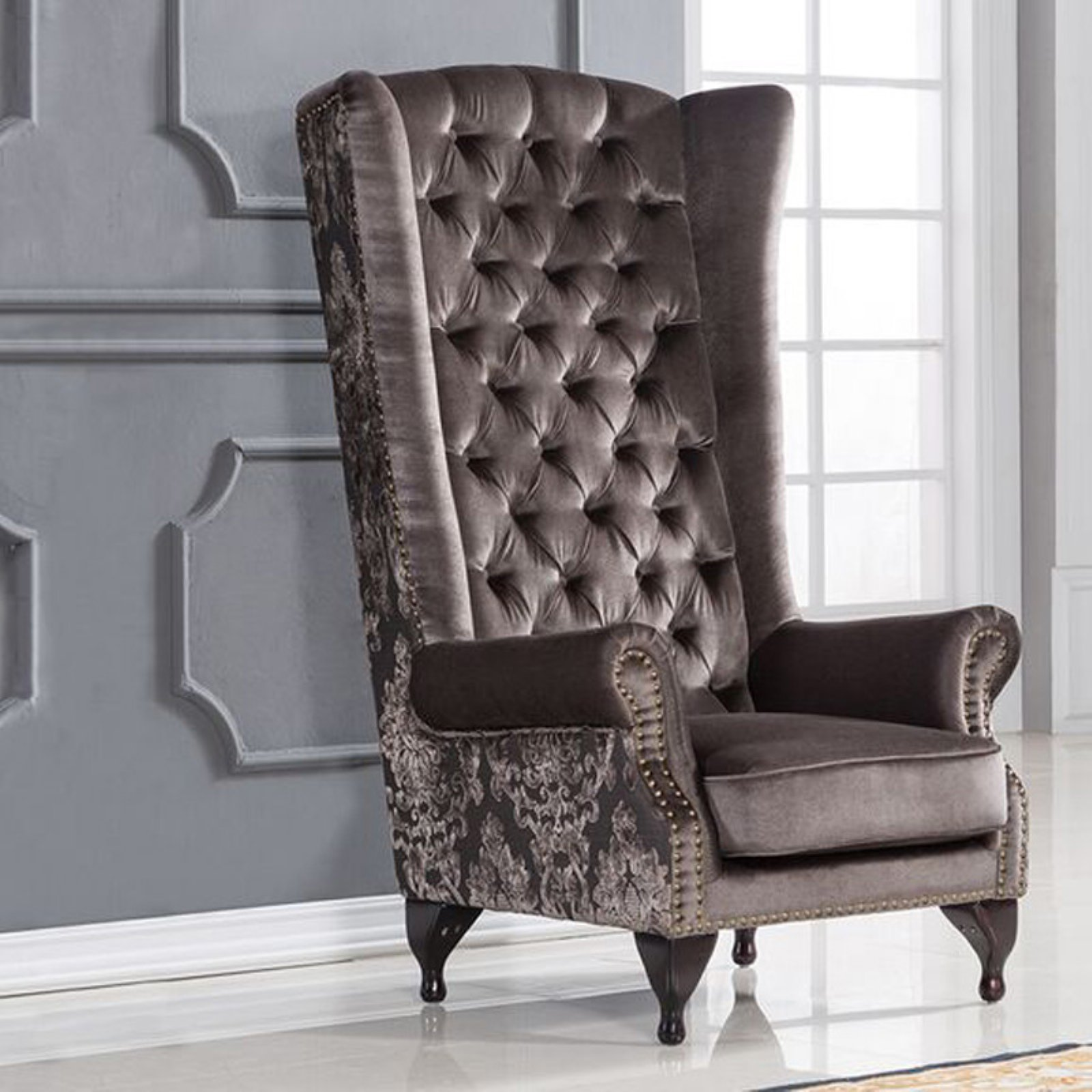 Magnificent American Eagle Furniture Pennington Tufted High Back Accent Onthecornerstone Fun Painted Chair Ideas Images Onthecornerstoneorg