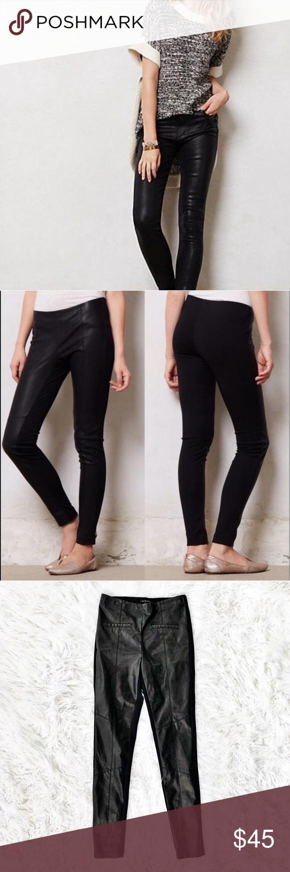 95241fd09a1c31 Anthropologie La Fee Verte vegan leather leggings Vegan leather and ponte  leggings, size XS from