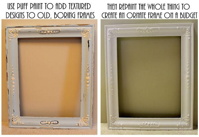 DIY: Creating Vintage-Style Frames With Puff Paint   DIY-Woodworking ...