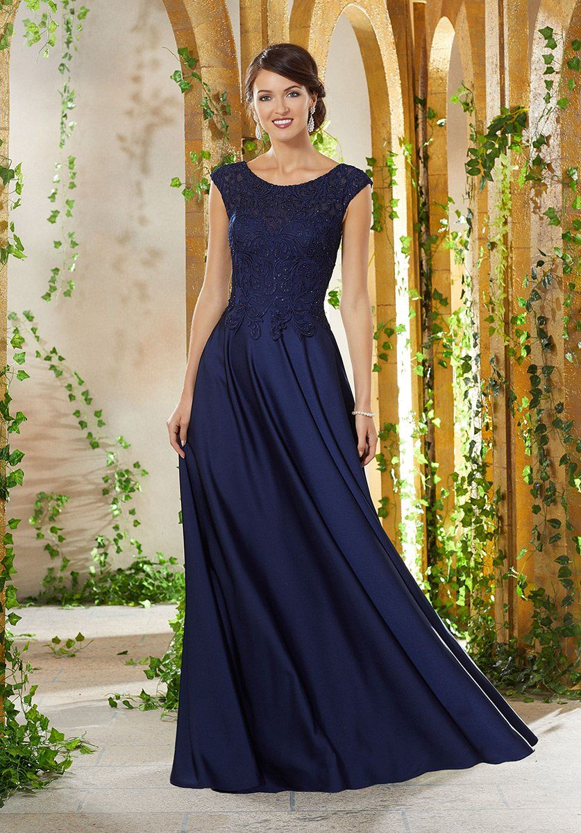 Photo of MGNY by Morilee 71932 Cap Sleeve Mother of the Bride Dress