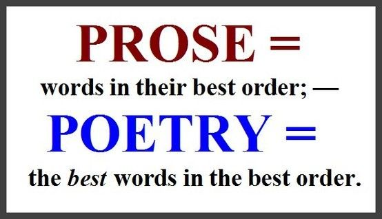Prose/Poetry